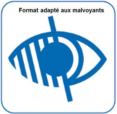 Format texte adapté aux malvoyants